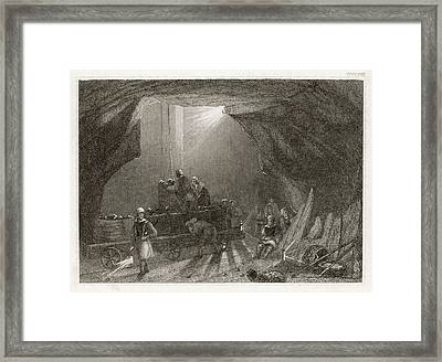 Women Working Down A  Northumbrian Framed Print