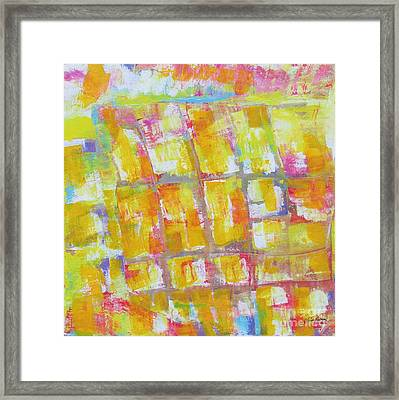 Yellow Puzzle Framed Print