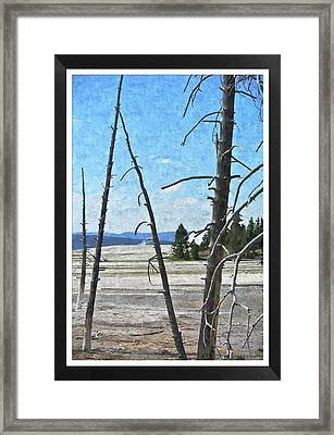 Yellowstone Park Framed Print by Larry Stolle
