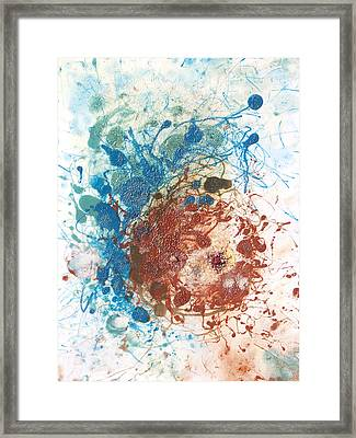 Yoni With The Seed Of Life Framed Print by Sora Neva