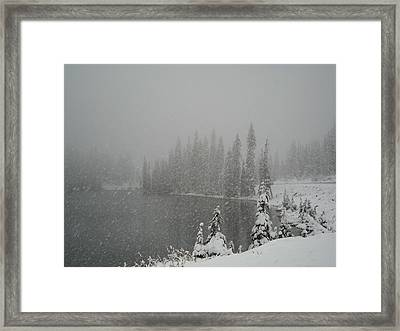 You Can Almost Hear The Snow In This Peace  Framed Print