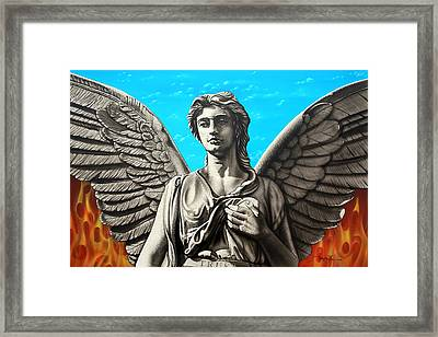 Framed Print featuring the painting  You Choose by Dan Menta