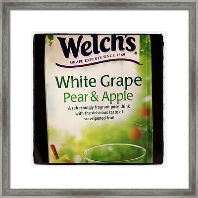 🍏🍐🍇 Yum! #juice #apple #pear Framed Print