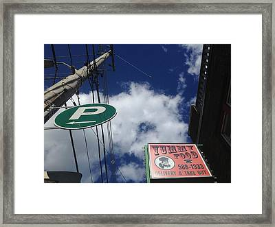 Yummy Food And A Place To P Framed Print
