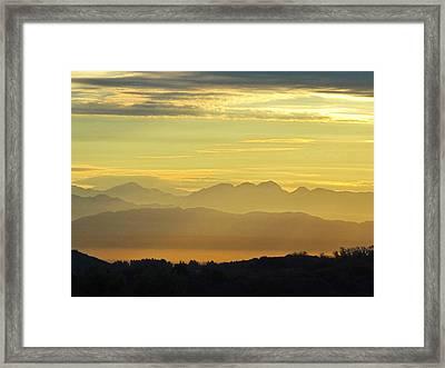 Zen Walk Framed Print