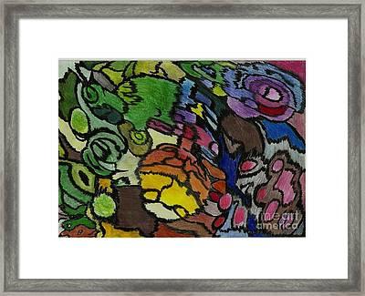 0001 Echapper A  La Tristesse Framed Print by Essel Emve