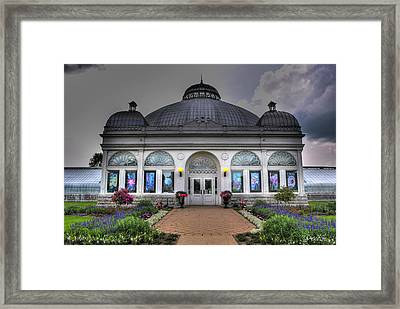 001 Buffal And Erie County Botanical Gardens Framed Print by Michael Frank Jr