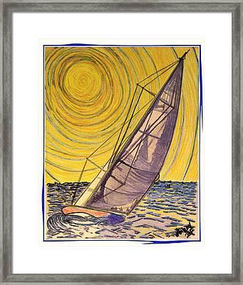 Solar Sail 0010 Framed Print by W Gilroy