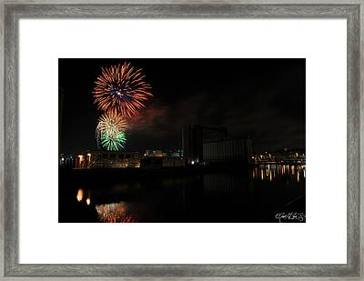 0020 ...the Bombs Bursting In Air...4jul13 Series Framed Print by Michael Frank Jr