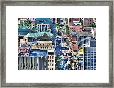 0024 Visual Highs Of The Queen City ...main St... Framed Print by Michael Frank Jr