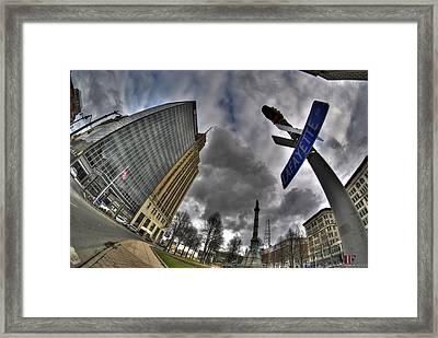 0028 Main And Lafayette Framed Print