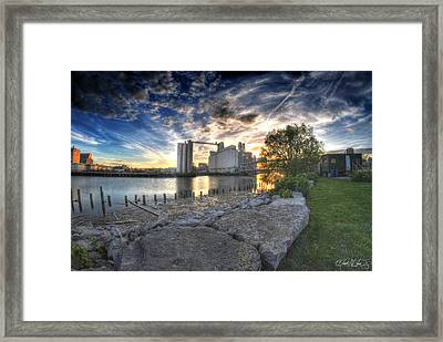 003 General Mills At Sunset Framed Print by Michael Frank Jr