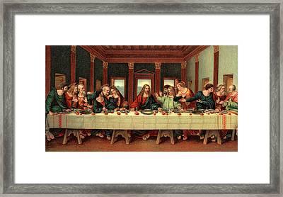 0030s The Last Supper After Leonardo Da Framed Print