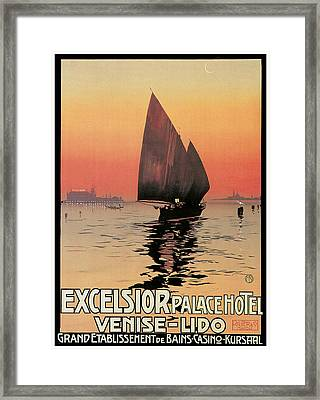 Excelsior Palace Hotel Framed Print by Mario Borgoni