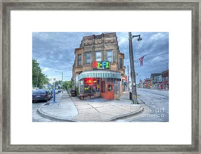 0040 Hi Fi Cafe Framed Print by Steve Sturgill
