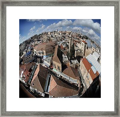 005 Globus Of Jerusalem Framed Print by Alex Kolomoisky