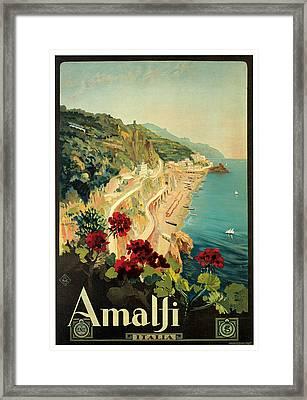 Amalfi Italia Framed Print by Mario Borgoni