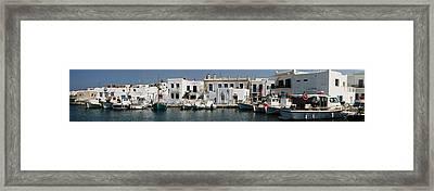 0084246 - Paros - Naousa Framed Print by Costas Aggelakis