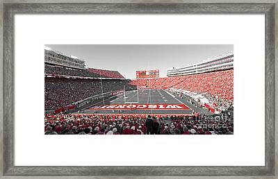 0095 Badger Football  Framed Print