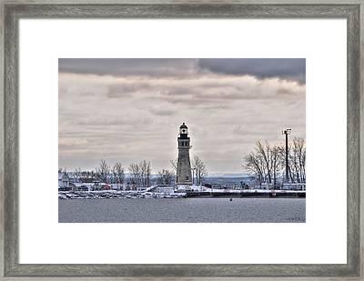 01 Winter Light House Framed Print