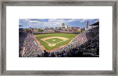 0100 Wrigley Field - Chicago Illinois Framed Print