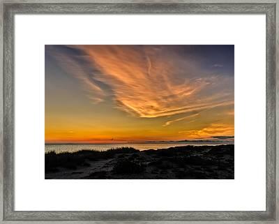 Warm Evening Glow On The Southwest Florida Suncoast Framed Print by Frank J Benz