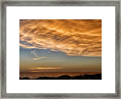 Wave Cloud Sunset Framed Print