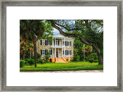 Historic Home - South Carolina Framed Print by Frank J Benz