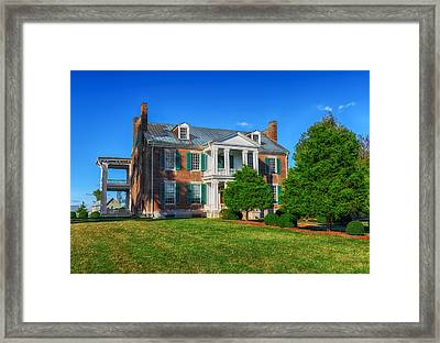 Carnton Plantation Mansion - 1826 Framed Print by Frank J Benz