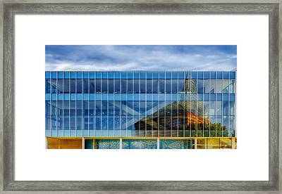 Aquarium Reflection - Chattanooga Framed Print