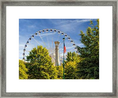 Atlanta Ferris Wheel Framed Print