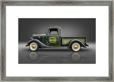 1935 Ford Pickup - Moonshine Express Framed Print