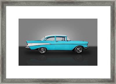 1957 Chevrolet 2 Door Post Framed Print