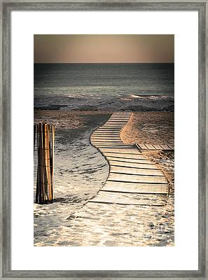 0160 Evanston Boardwalk Framed Print