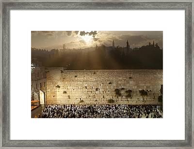 018 Jerusalem Framed Print by Alex Kolomoisky