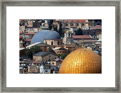 019 Jerusalem Framed Print by Alex Kolomoisky