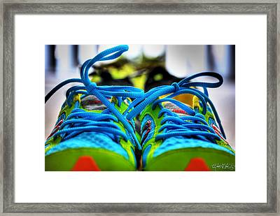 01a For The Love Of Running Framed Print by Michael Frank Jr