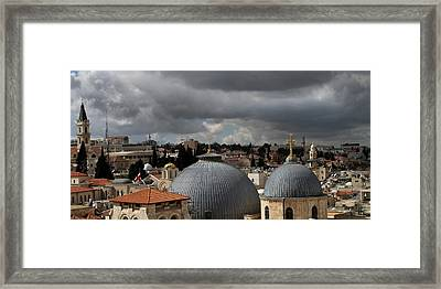 020 Jerusalem Framed Print by Alex Kolomoisky
