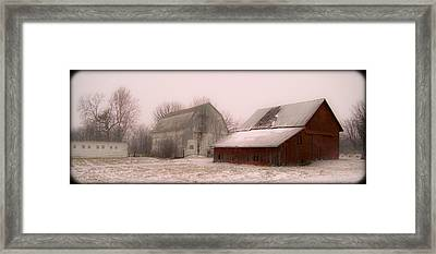 020213-112   Prairie Winter Fantasy II Framed Print by Mike Davis