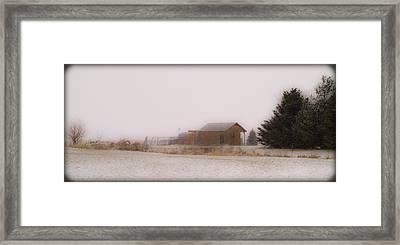 020213-42   Prairie Winter Fantasy Framed Print by Mike Davis