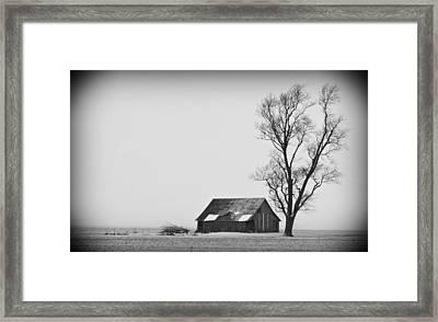 020213-73   Prairie Winter Framed Print by Mike Davis