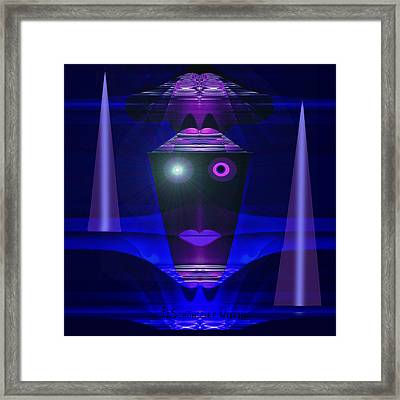 023 - Guard Of The Night  ... Framed Print by Irmgard Schoendorf Welch