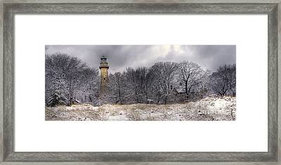 0243 Grosse Point Lighthouse Evanston Illinois Framed Print