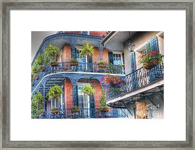 0255 Balconies - New Orleans Framed Print