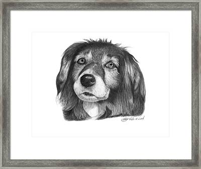027 - Miss Mindy Framed Print by Abbey Noelle
