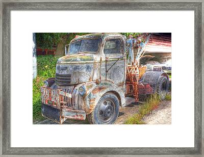 0281 Old Tow Truck Framed Print