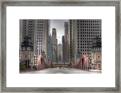 0295 Lasalle Street Chicago Framed Print