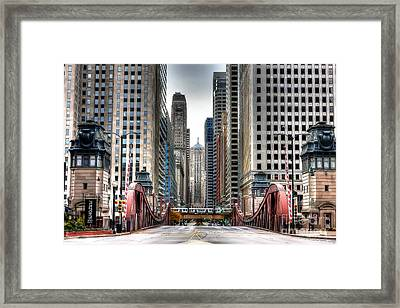 0295b Lasalle Street Bridge Framed Print