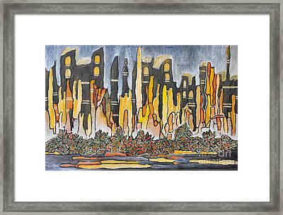 Greater Awakening Framed Print by Agnes Roman