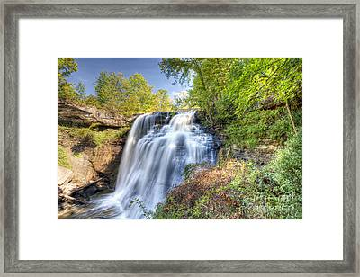 0302 Cuyahoga Valley National Park Brandywine Falls Framed Print